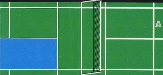 le service en badminton  r u00e8glement  zones de r u00e9ception