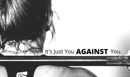 it is just you against you - c'est juste toi contre toi