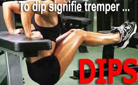 dips exercice de musculation pour triceps