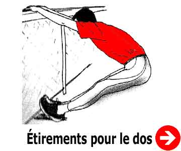 etirement du dos debout incline