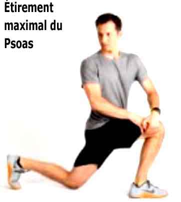 étirement maximal du psoas en rotation
