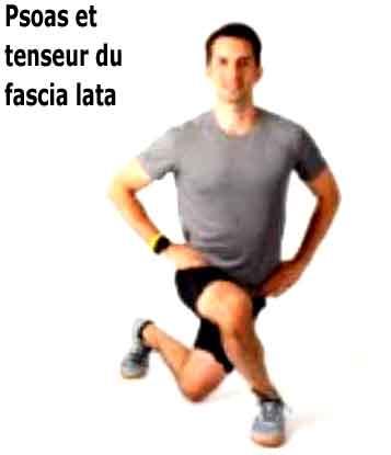 étirement du tenseur du fascia lata avec le psoas et le quadriceps