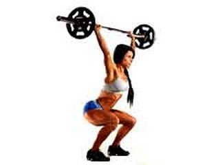 squat strength training exercise
