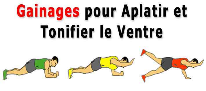 les exercices de gainage aplatissent et tonifient le ventre