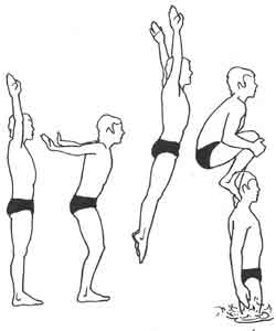 plongeon groupé