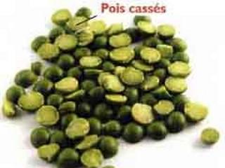 légumes secs ou légumineuses pois secs