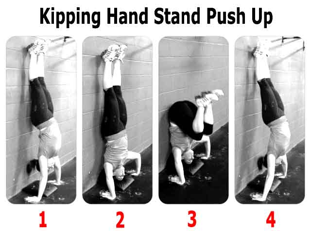 pompe crossfit kipping hand stand push up
