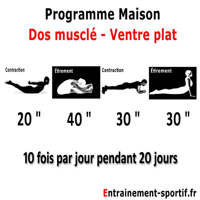Exercice Maison pour le Dos - Programme de 10 exercices