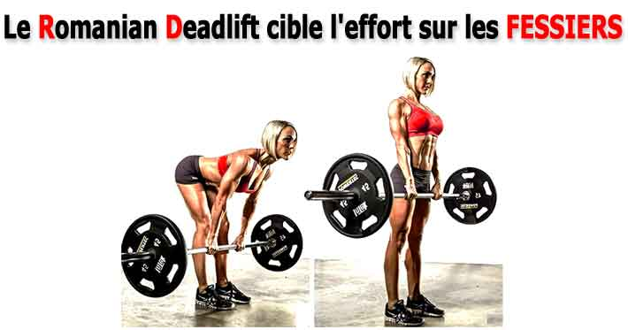 le souleve de terre roumain en jambes tendues ou romanian deadlift